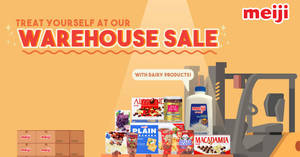 Meiji warehouse sale to return from 16 – 17 Nov 2018
