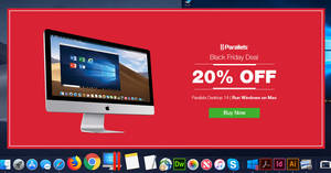 Parallels Black Friday Promo: Save 20% off Parallels Desktop software till 27 November 2018