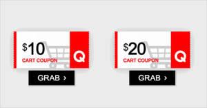 Qoo10: Grab free $10 and $20 cart coupons! From 17 – 18 Nov 2018