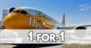 Scoot: 1-for-1 deals to over 55 destinations promotion on 13 November 2018
