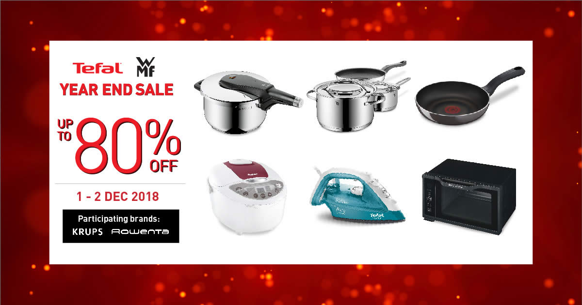 fd020af5e26b TEFAL and WMF up to 80% off YEAR END SALE! From 1-2 Dec 2018. 2 DAYS ONLY!