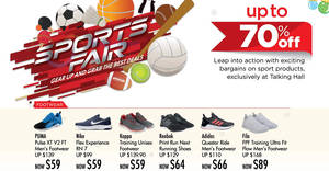 Takashimaya Sports Fair at Talking Hall offers discounts of up to 70% off till 27 November 2018