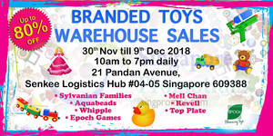 Featured image for Branded toys warehouse sale – Up to 80% OFF Sylvanian Families & more from 30 Nov – 9 Dec 2018