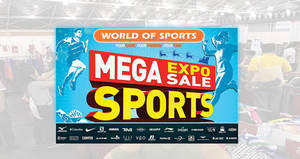 World of Sports Mega Sports Expo Sale is happening from 16 – 18 Nov 2018