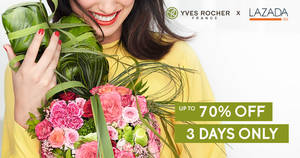 70% off Yves Rocher x Lazada Surprise Box and more! 3 DAYS ONLY. From 10 – 12 Dec