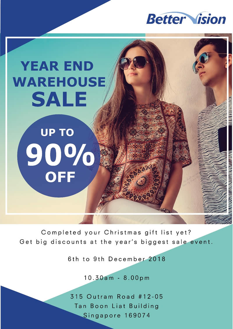 6c9c3507e4b Better Vision Year End Warehouse Sales – Up to 90% off from 6 – 9 ...