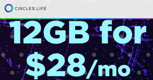 Circles.Life: $28/mth for 12GB data + 100min Talktime + Caller ID + Unlimited Whatsapp! Valid till 2 Jan 2019