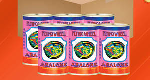 Flying Wheel Braised Abalone (6 cans 425g – 10pcs in a can) at 44% off with free delivery from 15 Dec 2018