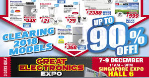 Featured image for Great Electronics Expo 2018 from 7 – 9 Dec 2018