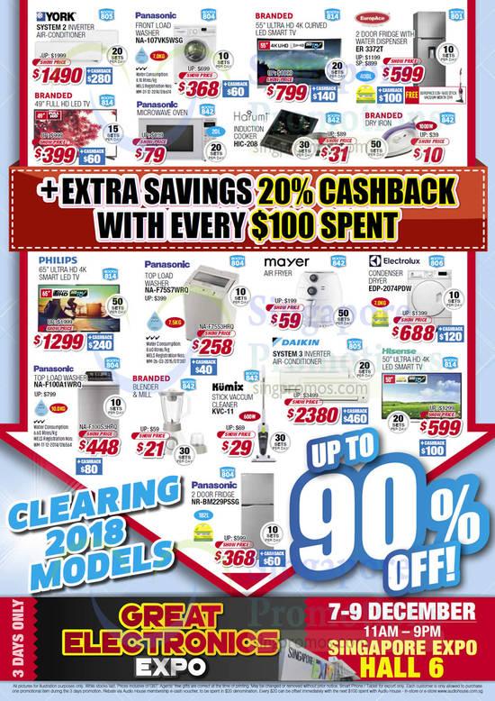 Highlights, Extra Savings Cashback