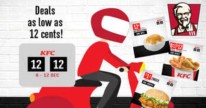 Save on your KFC delivery order with these coupons valid till 12 December 2018