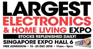 Largest Electronics & Home Living Expo by Megatex from 15 – 25 Dec 2018