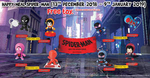 McDonald's: Get a free Spiderman toy with every Happy Meal until 9 January 2019