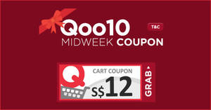 Qoo10: Grab free $12 cart coupons valid till 20 Feb 2019