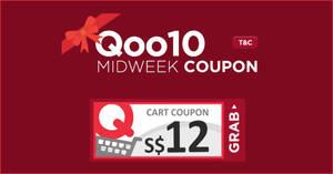 Qoo10: Grab free $12 cart coupons valid till 20 Feb 2019