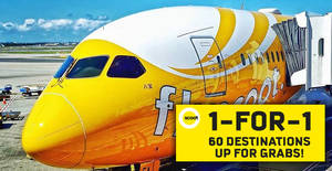 Scoot is offering 1-for-1 fares to 60 destinations when you book with OCBC cards by 9 December 2018