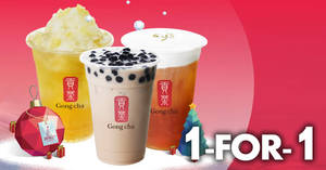 Singtel customers enjoy 1-for-1 drinks at Gong Cha till 19 December 2018