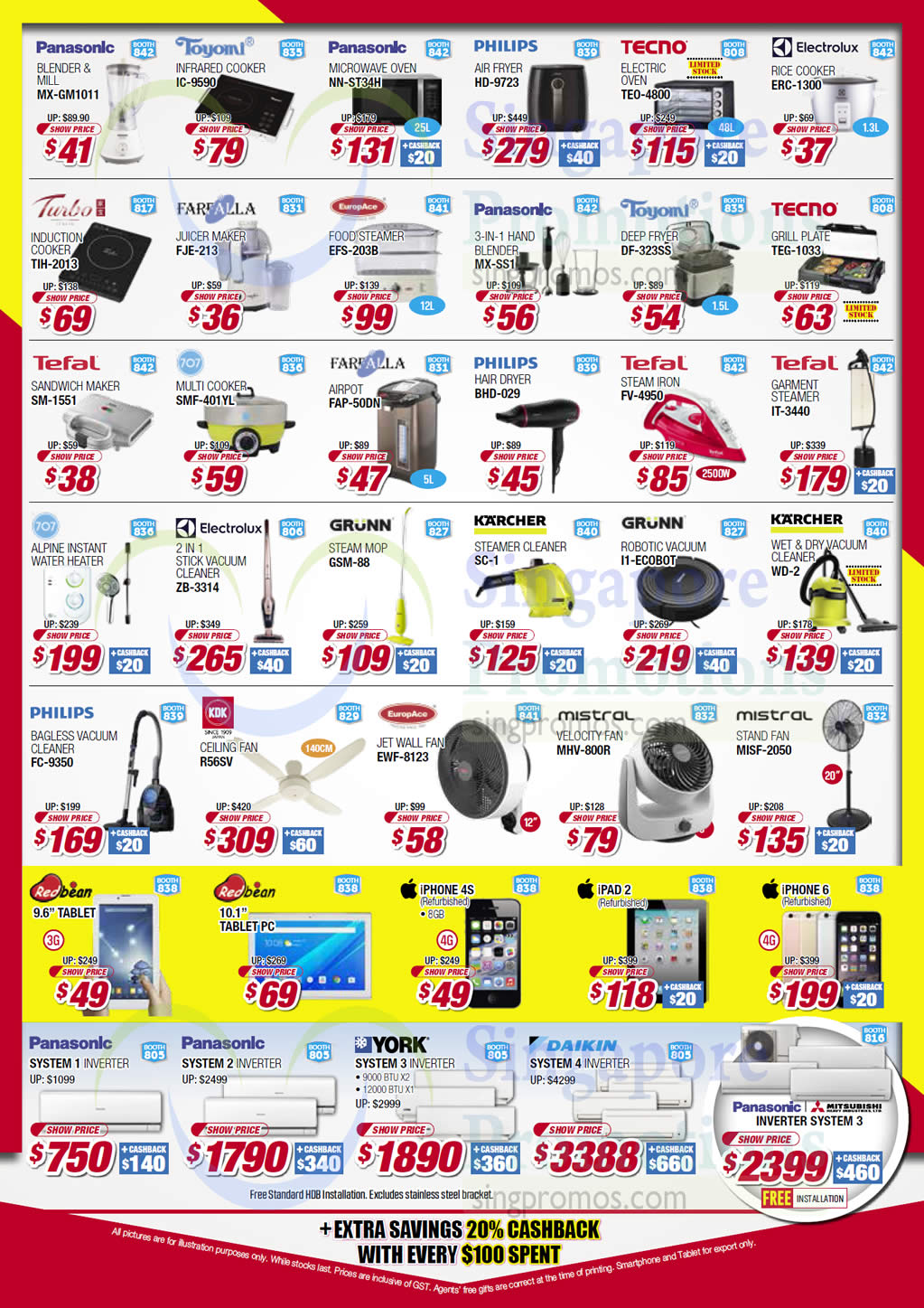 Small Appliances, Philips, Tecno, Electrolux, Turbo