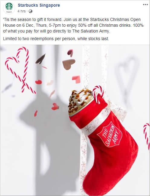 Starbucks Christmas Drinks 2018.Starbucks To Offer 50 Off Christmas Drinks On Thursday 6