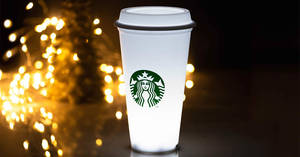Starbucks upcoming Gift of the Week: Starbucks x Meykrs White Cup LED Lamp! Available from 17 Dec 2018