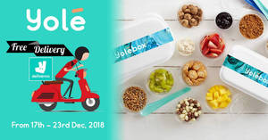 Yolé free delivery promotion via Deliveroo till 23 Dec 2018