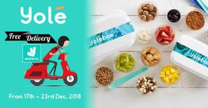 Yolé free delivery promotion via Deliveroo till 23 Dec 2018