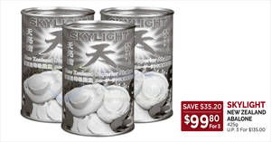 Featured image for Cold Storage: Skylight New Zealand Abalone, New Moon Australia Jumbo Abalone & other CNY offers valid till 3 Feb 2019