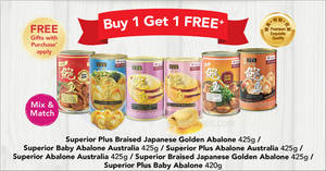 Featured image for Eu Yan Sang: Buy 1 Get 1 free selected abalone cans till 4 Feb 2019