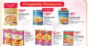 Fairprice: New Moon Australia Baby Abalone, Golden Chef abalone, Skylight abalone & other CNY offers valid till 30 Jan 2019