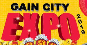 Gain City EXPO (Oct 2019) fair at Singapore Expo from 18 – 20 October 2019
