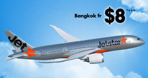 Jetstar is offering fares to Bangkok fr $8^++ one way for 24hrs only till 24 January 2019, 10am