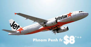 Jetstar is offering fares to Phnom Penh fr $8^++ one way! Book by 17 January 2019, 10am