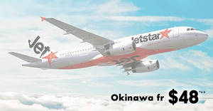 Jetstar is offering fares to Okinawa fr $48^++ one way for 24hrs only till 19 January 2019, 10am