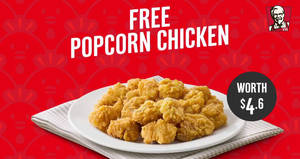 Featured image for KFC Delivery: Free Popcorn Chicken worth $4.60 when you place an advance order by 3 Feb 2019
