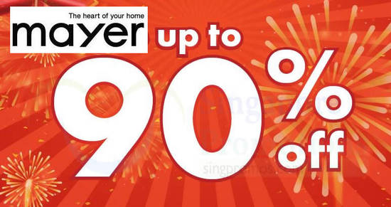 Featured image for Mayer warehouse sale returns with up to 90% off for 3-days only from 11 - 13 Jan 2019