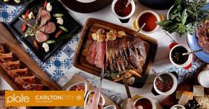 "Plate, Carlton City Hotel: 1-for-1 ""Meat on Thursdays"" buffet dinner with Citi cards till 31 Mar 2019"