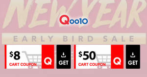 Qoo10: Grab free $8 and $50 cart coupons from 18 – 20 Jan 2019