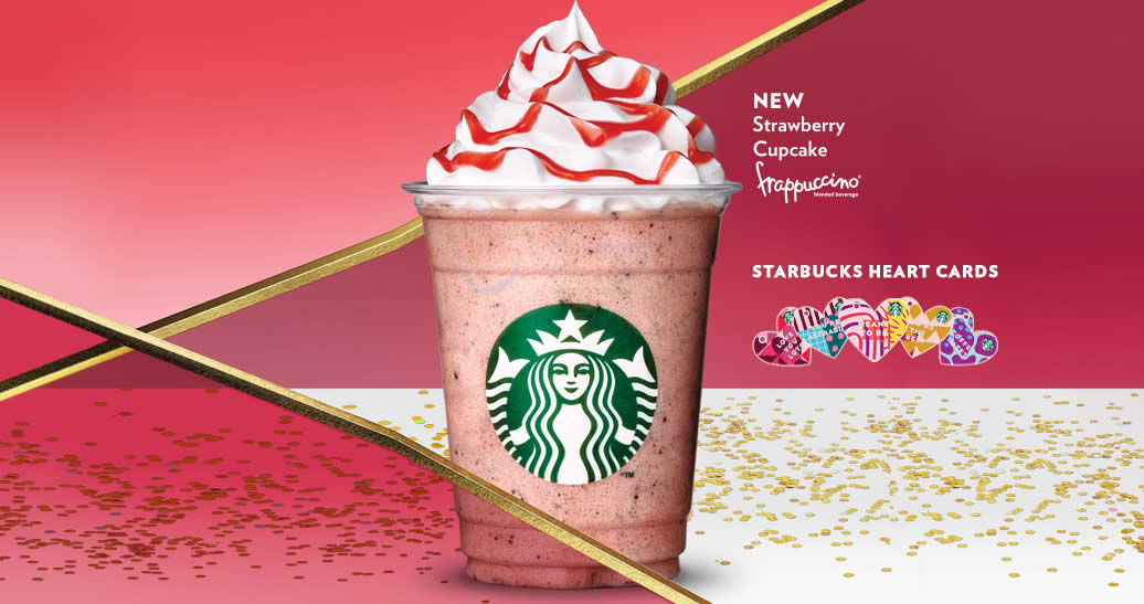 Starbucks New Strawberry Cupcake Frappuccino Blended