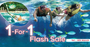 Featured image for Adventure Cove Waterpark 1-for-1 Flash Sale from 1 – 6 Mar 2019
