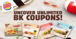 Burger King: Enjoy savings on BK meals & more with the latest e-coupon deals valid till 30 Apr 2019