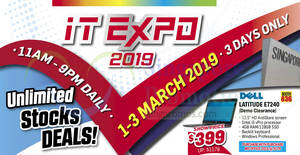 Featured image for IT Expo 2019 – More than 3,000 items selling below wholesale price! From 1 – 3 Mar 2019