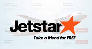 Jetstar: Take a Friend for FREE to over 20 destinations including Bali, Phuket, Bangkok and more! Book by 28 Feb 2019