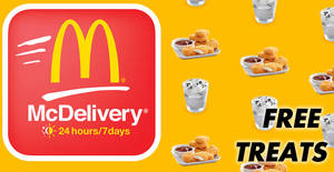 McDelivery: Score FREE treats when you order with McDelivery® on Mondays to Thursdays! From 19 Feb 2019