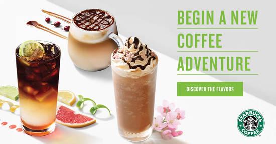 Featured image for Starbucks launching new beverages - Cascara Macchiato, Triple Citrus Cold Brew & Sakura Rose Mocha Frappuccino from 20 Feb 2019