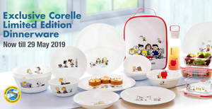 Fairprice: Spend & redeem exclusive Corelle Limited Edition Dinnerware till 29 May 2019
