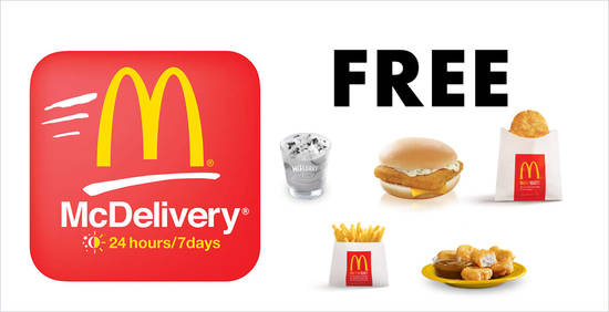 Featured image for Here are the latest McDelivery coupon codes for free Filet-O-Fish, McNuggets, Oreo McFlurry & more valid till 30 June 2019