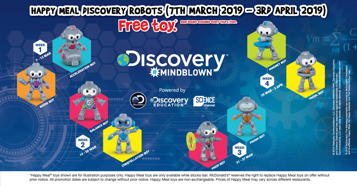 McDonald's: Get a free Discovery Robots toy or Treetop Twins