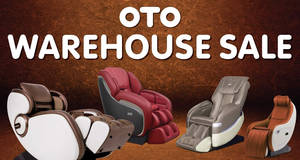 Featured image for OTO: Massage chairs and other products warehouse sale from 30 – 31 Mar 2019