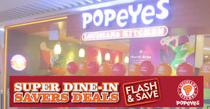 Popeyes: Flash these discount coupon deals to enjoy deals from $6 for a limited time period till 17 April 2019