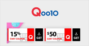 Featured image for Qoo10: Grab 15% and $50 cart coupons from 29th – 31st March 2019